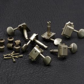 Gotoh SD91-05M RELIC 6 in-line Vintage Style Tuners for Strat Tele - AGED NICKEL