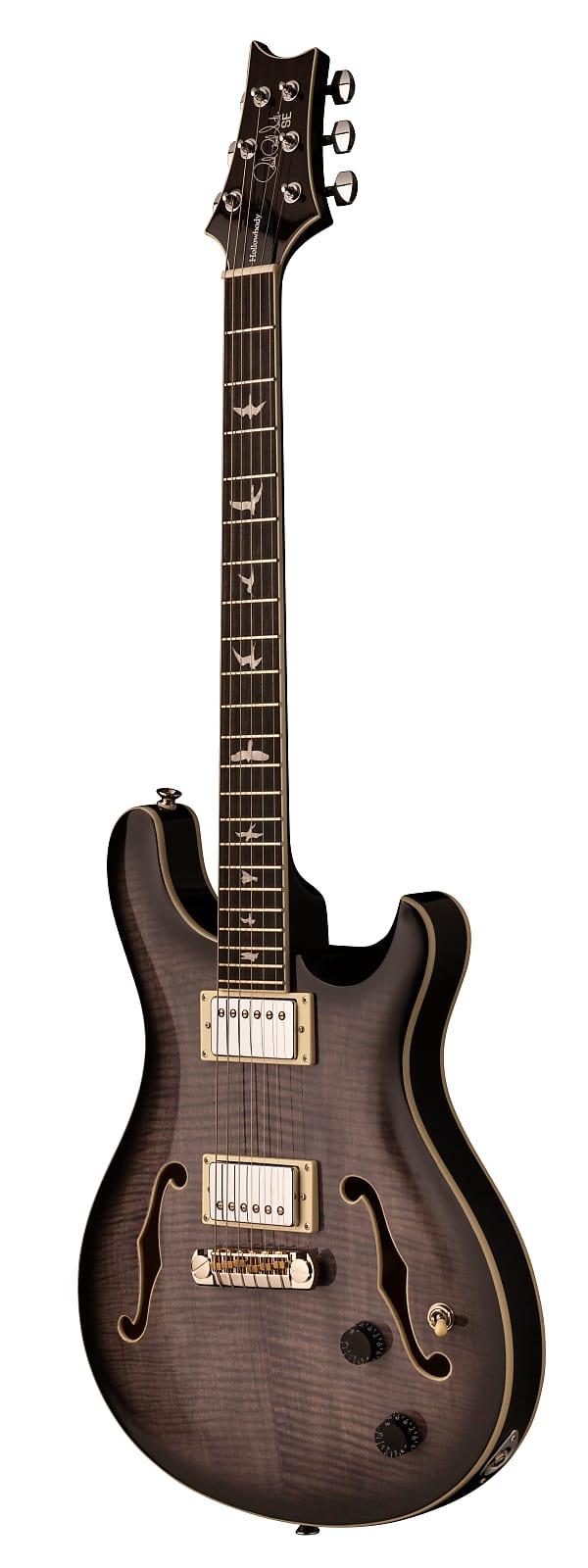 Paul Reed Smith PRS SE Hollowbody II Electric Guitar Charcoal Burst w/ Hardshel