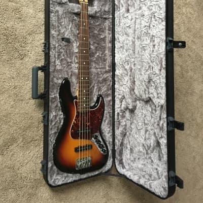 Fender Deluxe Series Active Jazz Bass V 2008 3 Tone Sunburst for sale