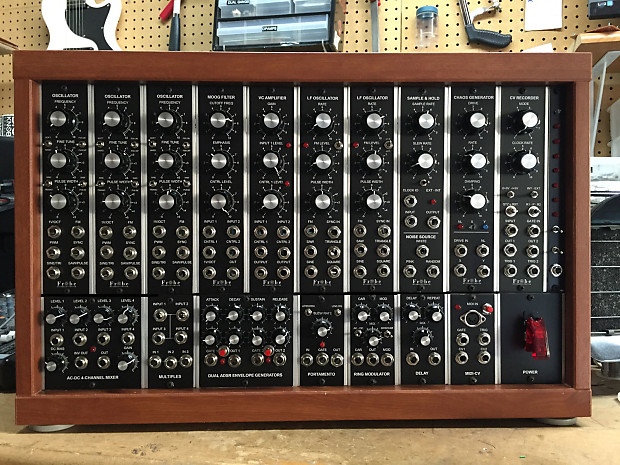 modular synthesizer moog style 100 handwired prototype reverb. Black Bedroom Furniture Sets. Home Design Ideas