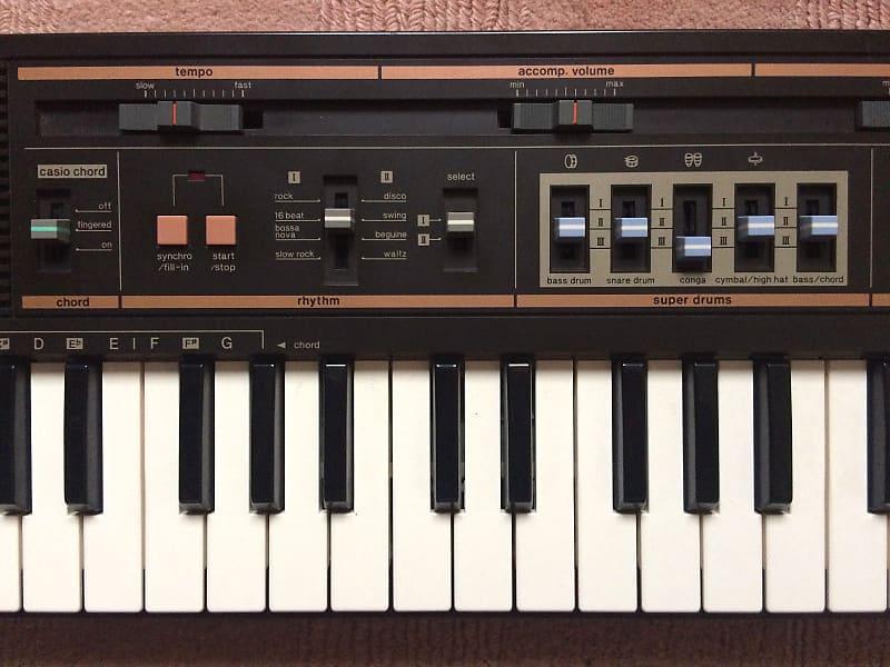 Casio MT-52 44-Key Synthesizer 1980s Reggae Classic Analog Drums