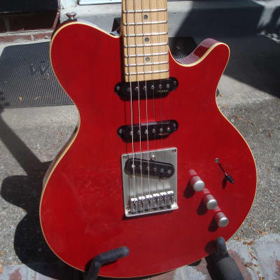 Hohner Nashville Tele style hybrid... top notch ! 2000s red/natural for sale