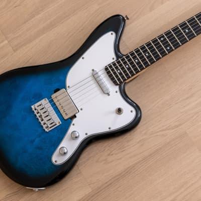 Iroha Sakura Offset Electric Guitar Blue Burst w/ Seymour Duncan SH-1 PAF, Japan for sale