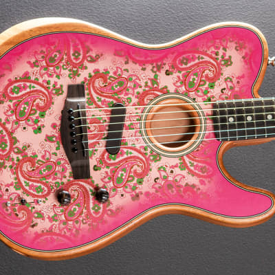 Fender Factory Special Run American Acoustasonic Telecaster - Pink Paisley for sale