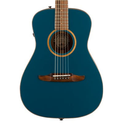 Fender Malibu Classic Pau Ferro Fingerboard Cosmic Turquoise Acoustic Guitar With Bag