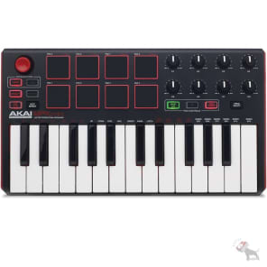 Akai MPK Mini MKii 25-Key Compact Keyboard & Pad Controller + MPC Essentials