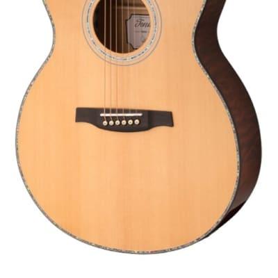 PRS SE T55E Acoustic/Electric Guitar Natural/Black Gold Burst w/ Case