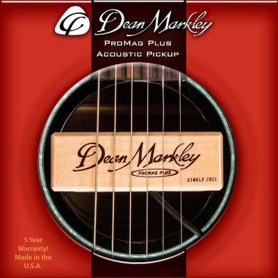 Acoustic Guitar Soundhole Pickup Dean Markley ProMag Plus Maple Wood Free 2 Day Shipping for sale