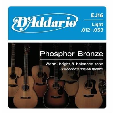 D'Addario EJ16 Phosphor Bronze Acoustic Strings Light