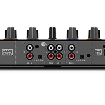 Denon DJ MC7000 | Premium 4-Channel DJ Controller + ProX DJ MC7000  Case with Laptop Shelf & Wheels.