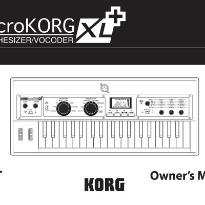 Korg microKORG XL+/Owner's Manual (English)