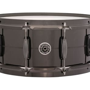 "Gretsch GB4166B Brooklyn Black Nickel Over Brass 6x14"" 10-Lug Snare Drum"