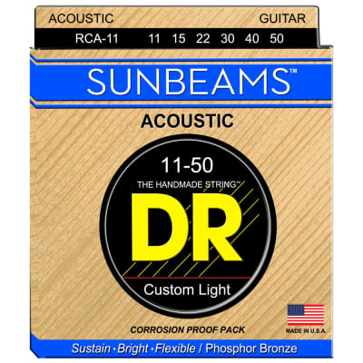 DR Strings RCA-11 Sunbeam Phosphor Bronze Custom Light 11-50