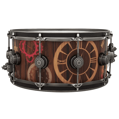 "DW DREX6514SSA-TK Collector's Series 6.5x14"" Timekeeper Icon Snare Drum"