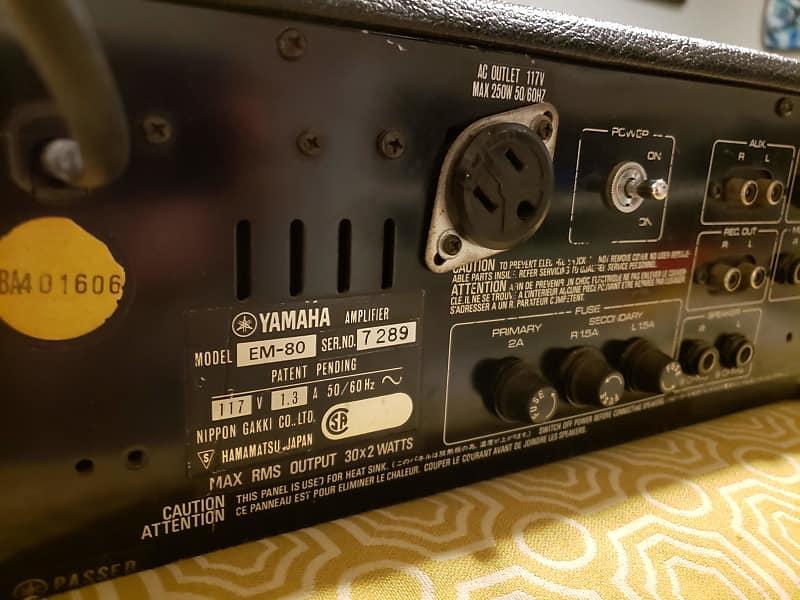 Vintage Yamaha Em-80 Mixer - With Real Spring Reverb