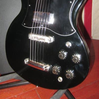 Vintage Circa 1975 Ampeg Stud SG Copy Original Black Finish