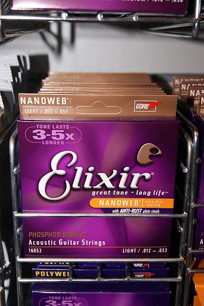 elixir nanoweb 16052 phosphor bronze 12 53 acoustic guitar reverb. Black Bedroom Furniture Sets. Home Design Ideas