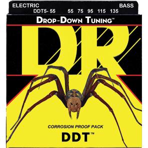 DR DDT5-55 Drop Down Tuning Bass Strings - Heavy (55-135)