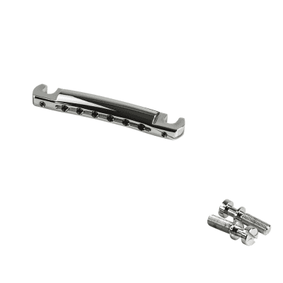Kluson USA Aluminum Wraparound Tailpiece With Steel Studs fits Les Paul Jr, SG KWRAPAL-C for sale