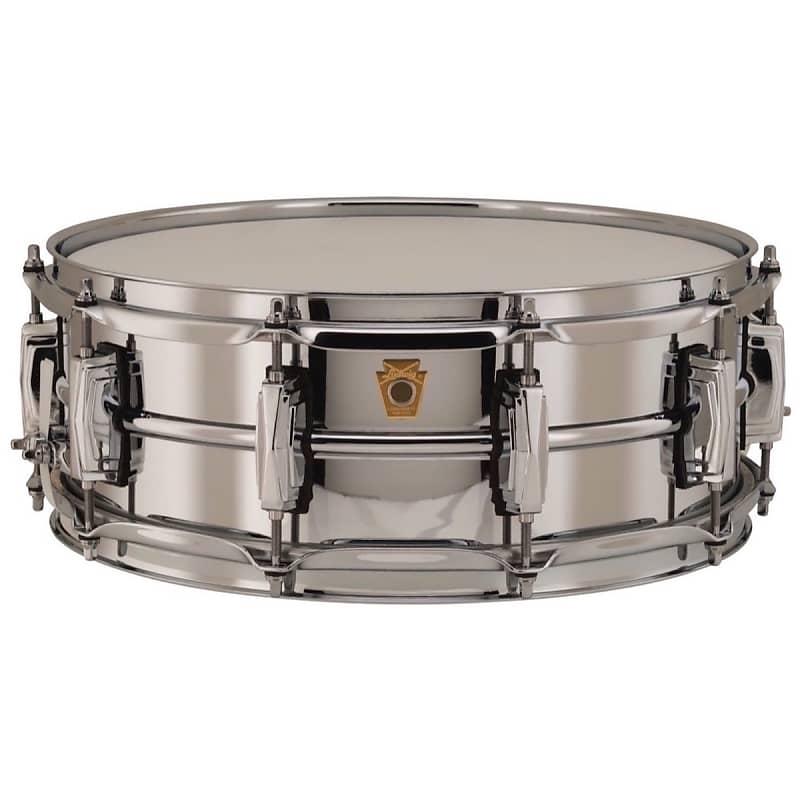 ludwig chrome over brass snare drum 5x14 inch lb400b reverb. Black Bedroom Furniture Sets. Home Design Ideas