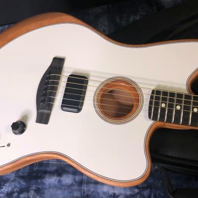 NEW! 2021 Fender American Acoustasonic Jazzmaster - Arctic White Finish Authorized Dealer - In-Stock