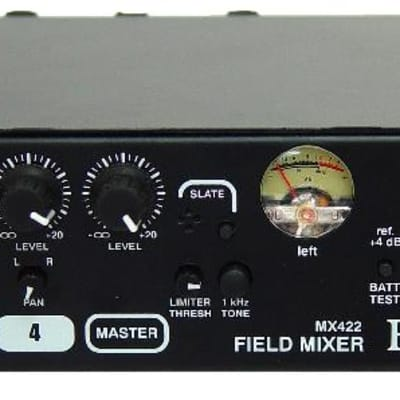Rolls MX422 Field Mixer 4-channel with Meters and Tones