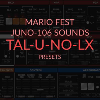 Mario Fest Juno 106 Sounds for TAL-U-NO-LX image