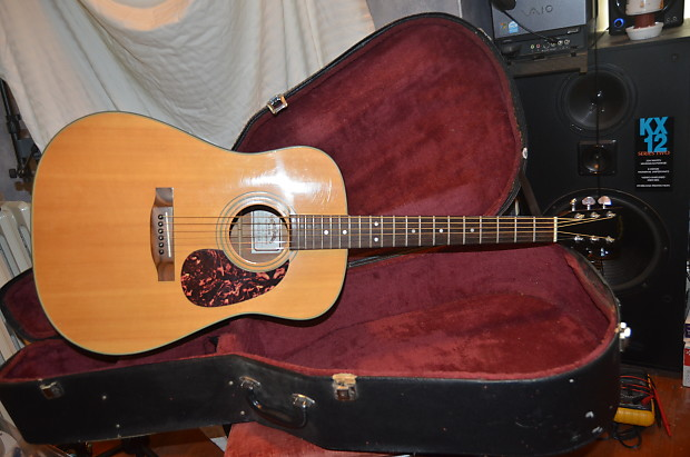 Sigma Dm2 Acoustic Guitar 80s Natural Reverb