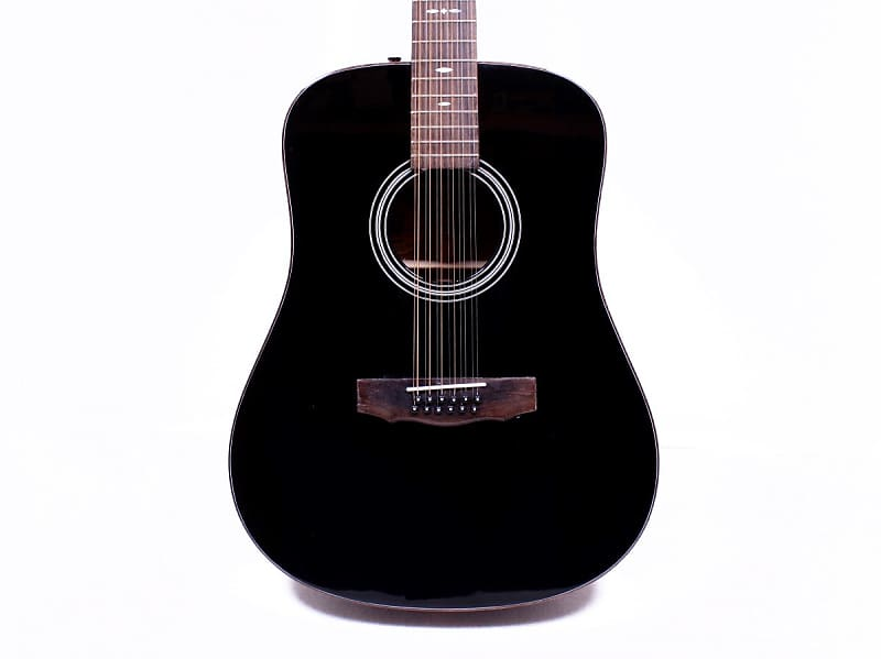 guild gad g212e 12 string black acoustic electric guitar w reverb. Black Bedroom Furniture Sets. Home Design Ideas