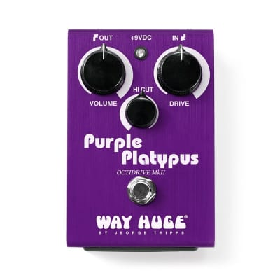 Way Huge Limited Edition  WHE800 Purple Platypus Octidrive MkII Overdrive Octave Pedal Dunlop