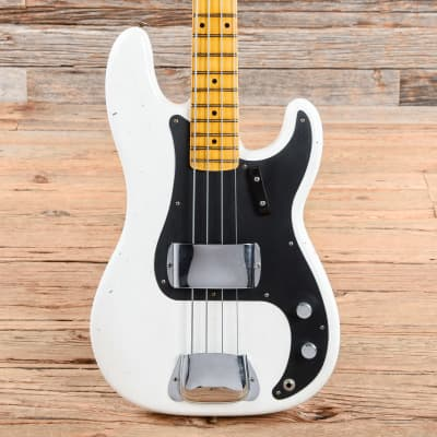 Fender Custom Shop 1958 Precision Bass Journeyman Relic Opaque White Blonde 2018 for sale