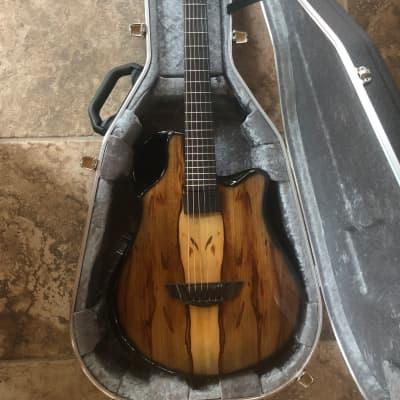 Emerald X10 Carbon Fiber 6 String Guitar w/Hiscox Case 2020 Spalted Chen Chen for sale