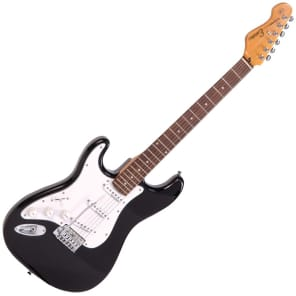 ENCORE LEFT HAND ELECTRIC GUITAR - GLOSS BLACK for sale