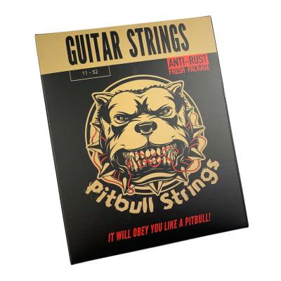 Premium Acoustic Guitar Strings 11-52 - Pitbull Strings Gold Series GAG-EL