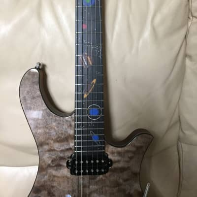 Overload planets with built in preamp burl quilt for sale