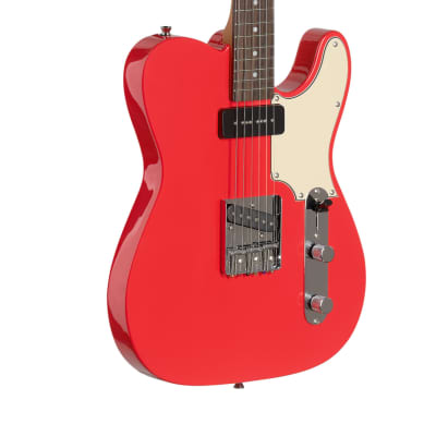 "Stagg Vintage ""T"" Series Custom Electric Guitar Fiesta Red Highgloss"
