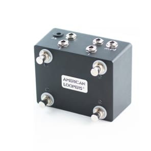 4 Way TRS Splitter (Expression Pedal ) With on/off Switches and LEDs (Horizontal)