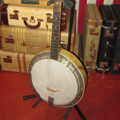 1949 Kay Old Kraftsman 5 String Banjo White and Brown for sale