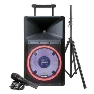 Gemini #GSP-L2200PK - Ultra Powerful Bluetooth 2200 Watt Peak Speaker With Party Lights Package