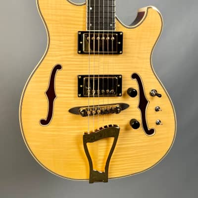 Eastwood Classic 6 TA PH Languedoc Anastasio Style Hollowbody Natural for sale