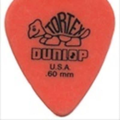 Dunlop Guitar Picks  Tortex   72 Pack  .60mm  Orange  Light  (418R60)