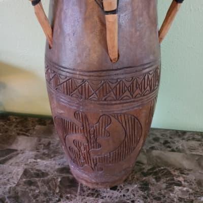 """Handmade Kpanlogo 9"""" Wooden Drum"""