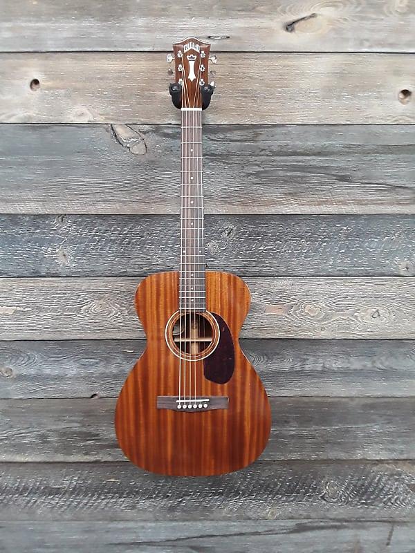 Guild M120E Concert Size All Solid Mahogany A/E Guitar w/Polyfoam case image