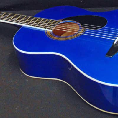 Johnson JG-100-BL Acoustic Guitar Blue Professionally Set Up! for sale