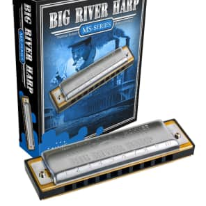 Hohner 590BX-BN MS Series Modular Big River Harp Harmonica - Key of B