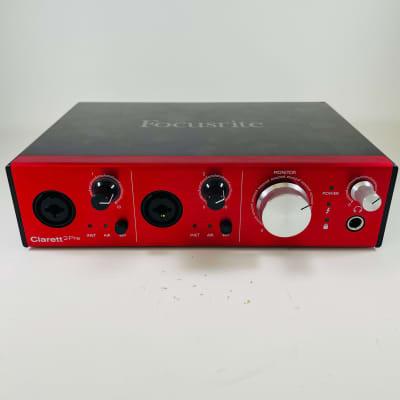 Focusrite Clarett 2Pre Thunderbolt Audio Interface 2010s Red *Sustainably Shipped*