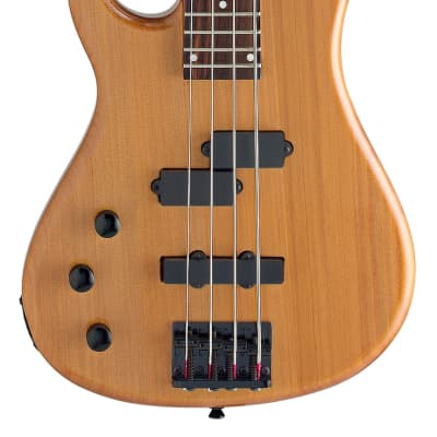 Stagg BC300LH-N Fusion Solid Alder Body Hard Maple Neck 4-String Electric Bass Guitar - Left Handed