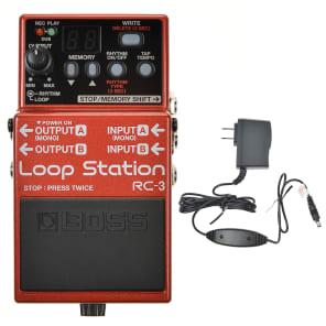Boss RC-3 Loop Station Bundle w/ Boss PSA-120S2 Power Supply
