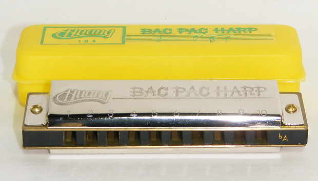 Huang Bac Pac 10 Hole Diatonic Harmonica with Case - Key Of Ab