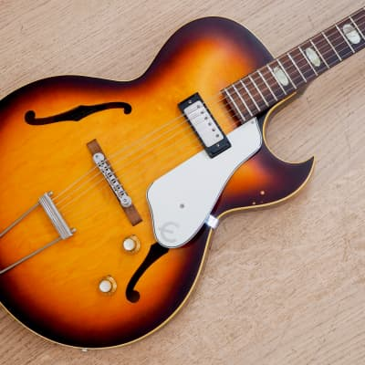 1963 Epiphone Sorrento E452T Vintage Hollowbody Electric Guitar Sunburst w/ Patent # Pickup, Case for sale